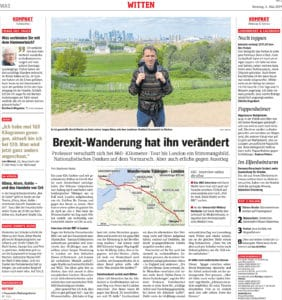 Brexit-Wanderung hat ihn verändert –  Von Stephanie Heske